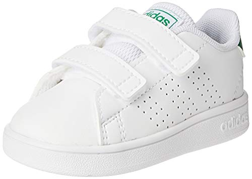 adidas Advantage I, Sneaker Unisex niños, Footwear White/Green/Grey, 27 EU