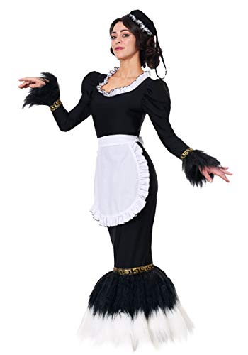Women's French Feather Duster Fancy Dress Costume Large