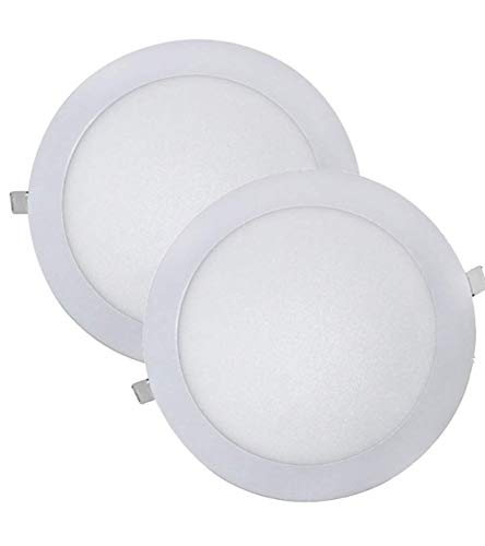 Pack 2x Downlight LED Panel Extraplano Redondo 18 W. Color Blanco Frio (6500K) 225 mm. 1600 Lumenes. A++