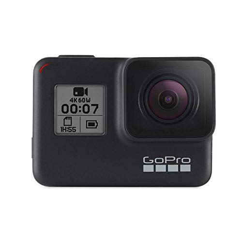 Gopro  Hero7  Black  -  Cámara  De  Acción  (Sumergible Hasta 10M, Pantalla  Táctil,  Vídeo  4K  Hd,  Fotos  De  12  Mp,  Transmisión  En  Directo  Y  Estabilizador), Color Negro