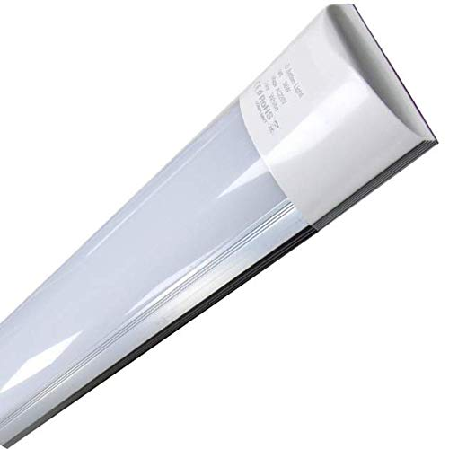 Luminaria LED de Superficie 120 cm, 40w. Color Blanco Frio (6500K). Tubo LED T8. 3300 lumenes. A++