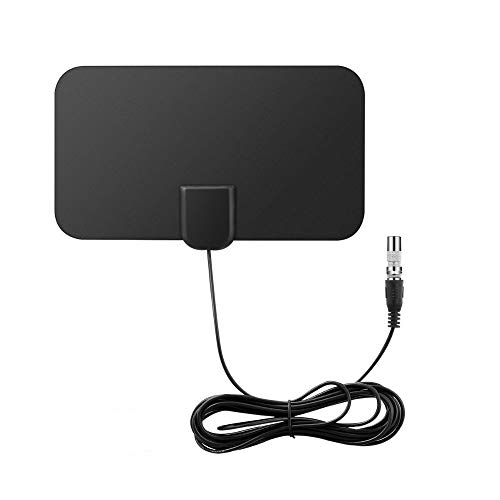 DollaTek Mini Antena de TV Digital para Interiores Amplificador de señal de Rango de 50 Millas F-TV HDTV Compatible 4K