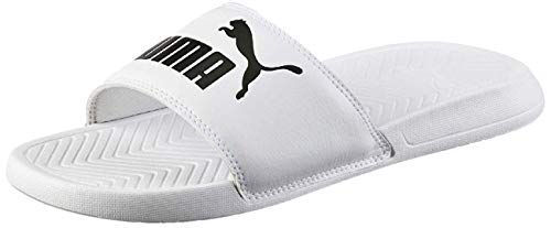 PUMA Popcat, Chanclas de Playa y Piscina Unisex Adulto, Blanco White Black, 43 EU