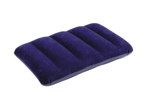 Intex 68672 - Almohada hinchable flocada, 43 x 28 x 9 cm, color azul
