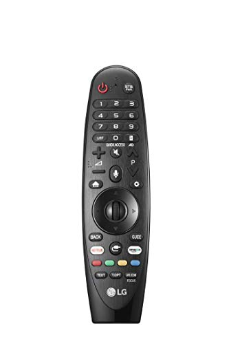 LG Magic Control AN-MR18BA - Mando a Distancia (Reconocimiento de Voz, apunta y navega, Rueda de Scroll, Botones Netflix y Amazon, Teclado numérico) Color Negro