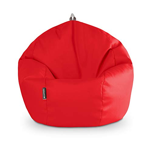 HAPPERS Puff Pelota Polipiel Interior Rojo