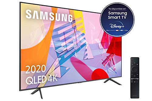 Samsung QLED 4K 2020 55Q60T - Smart TV de 55' con Resolución 4K UHD, con Alexa Integrada, Inteligencia Artificial 4K Wide Viewing Angle, Sonido Inteligente, One Remote Control