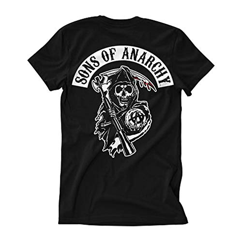 Officially Licensed Merchandise SOA Backpatch T-Shirt (Black), X-Large