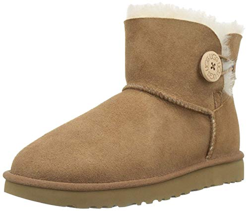 UGG Female Mini Bailey Button II Classic Boot, Chestnut, 5 (UK)
