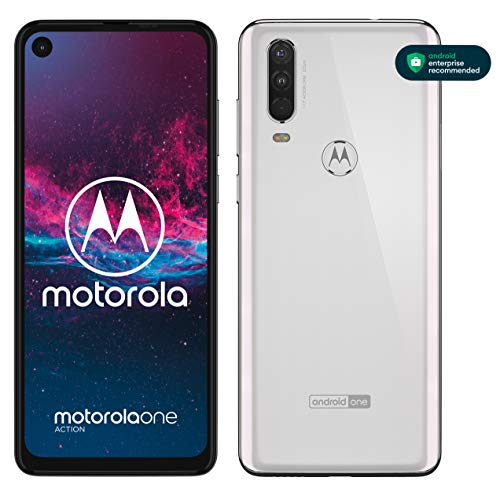Motorola One Action - Smartphone Dual SIM (Triple cámara: 12 MP + 5 MP y video de 16 MP con ultra gran angular, 128 GB/4 GB, Pantalla 6,3� FHD+, Android 9.0) - Color Blanco [Versión Española]