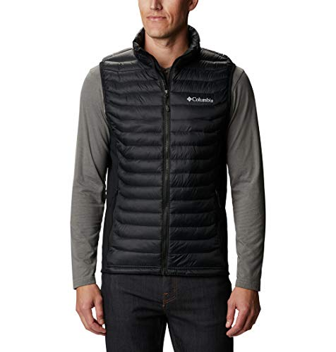 Columbia Powder Pass Chaleco, Hombre, Black, S