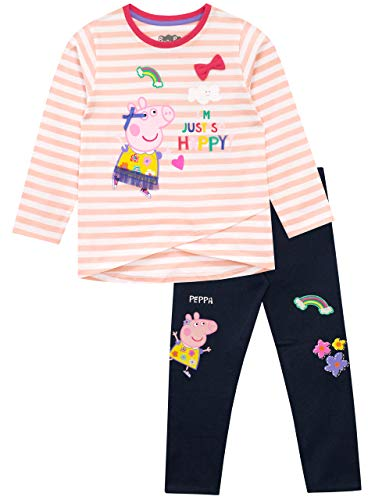 Peppa Pig - Conjunto de Top y Leggings para niñas - Peppa - Multicolor - 3-4 Años
