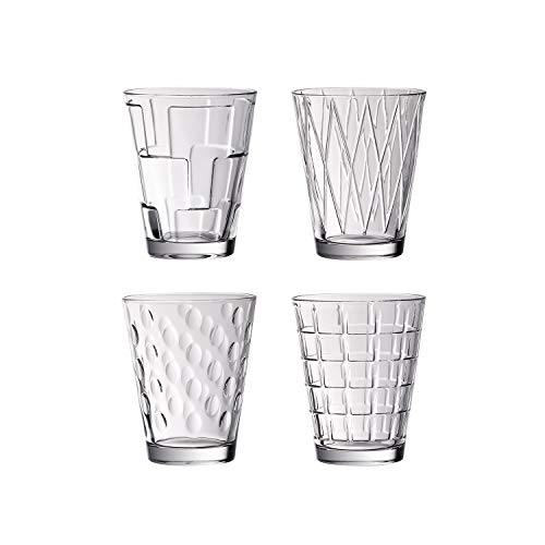Villeroy & Boch Dressed Up Vasos de agua, Set de 4 piezas, 310 ml, Cristal, Transparente