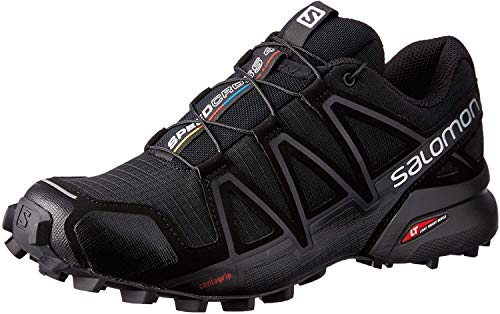 Salomon Speedcross 4 W, Zapatillas de Trail Running Mujer, Negro (Black/Black/Black Metallic), 38 EU
