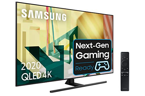 Samsung QLED 2020 55Q70T - Smart TV de 55' 4K UHD, Inteligencia Artificial 4K, HDR 10+, Multi View, Ambient Mode+, One Remote Control y Asistentes de Voz Integrados, con Alexa integrada