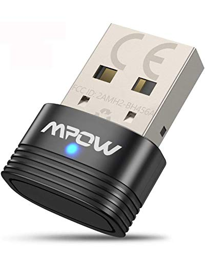 Mpow Adaptador Bluetooth 5.0 USB, Transmisor Receptor Bluetooth 3-en-1 con Audio Inalámbrico 3.5MM Cable, para PC/TV/Auriculares/Altavoces/Radio, Compatible con Windows 10, 8, 8.1,7, XP, Vista