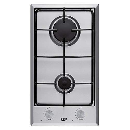 Beko HDCG 32220 FX Integrado Encimera de gas Acero inoxidable hobs - Placa (Integrado, Encimera de gas, Acero inoxidable, Acero inoxidable, 1000 W, 2900 W)