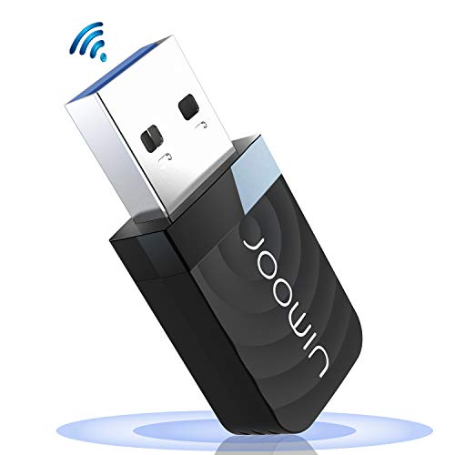 JOOWIN WiFi Adaptador USB,wifi usb 1300Mbps WiFi Antena USB 3.0 Dual Band 2.4GHz/5GHz Mini WiFi Dongle Adaptador Soporta Windows 7/8/8.1/10 / Mac OS 10.7-10.12 / Mac OSX, para PC Desktop Laptop Tablet