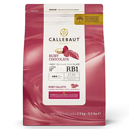 CALLEBAUT Receipe RB1 – Ruby Callets, rosa chocolate, 47,3 % cacao, 2,5 kg, 1 unidad