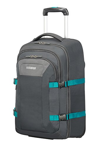 American Tourister Road Quest - Wheeled Laptop Backpack 15.6' Mochila tipo casual, 53 cm, 35 liters, Gris (Grey/turquoise)