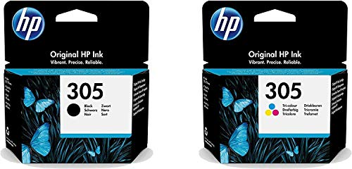 Cartucho HP 305 negro y tricomia color, pack múltiple