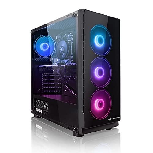 PC Gaming - Megaport Ordenador Gaming PC AMD Ryzen 7 3700X • GeForce RTX3060 12GB • 1TB M.2 High Performance SSD • 16GB DDR4 3000 • WLAN • Windows 10 • PC Gamer