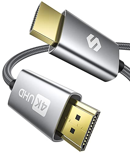 Cable HDMI 4K 2 Metros, Silkland Cable HDMI 2.0 4K HDR, Soporte ARC, 3D, 4K@60Hz, 2K@144Hz, 1080P, Ethernet, HDMI Cable 2 Metros Compatible con 4K UHD TV, BLU-Ray, PS4/5, Xbox One/360, Proyector