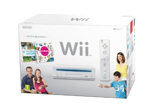 Nintendo Wii Console (White) with Wii Sports and Wii Party [Importación inglesa]