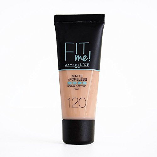 Maybelline Fit Me Base de Maquillaje Mate, Sin Poros, 120 Marfil Clásico - 30 ml