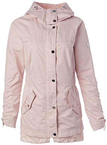 GUESS Women's Ladies Long Sleeve Anorak Jacket, Pink, Small