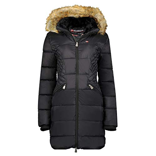 Geographical Norway Abby - Parka con capucha para mujer Negro XL