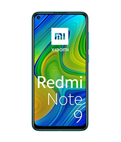 "Xiaomi Redmi Note 9 Smartphone 4GB 128GB, 48MP Quad Camera, 6.53""FHD + DotDisplay, 5020 mAh, 3.5mm Headphone Jack NFC, Forest Green Verde [European version]"