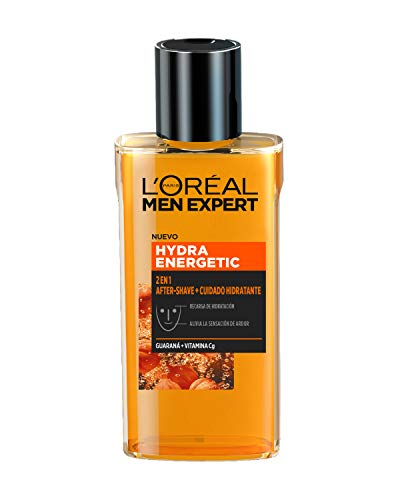 L'Oréal Men Expert - Hydra Energetic 2 en 1 aftershave y cuidado hidratante, para hombres - 125 ml