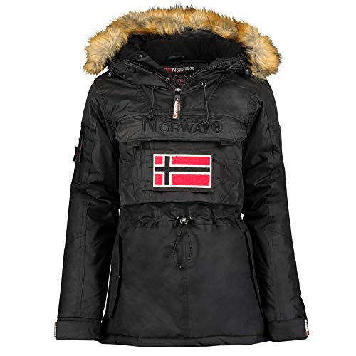 Geographical Norway - Parka para Mujer Negro S