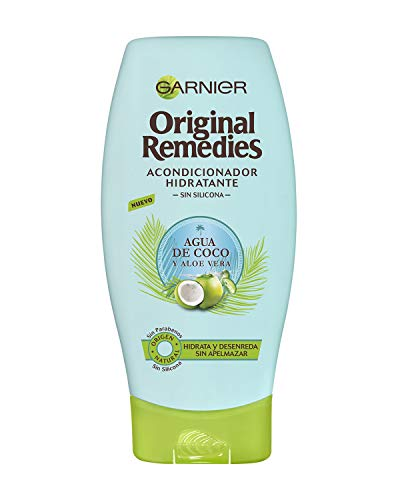 Garnier Original Remedies Acondicionador Hidratante Agua de Coco y Aloe Vera, para Pelo Normal - 250 ml
