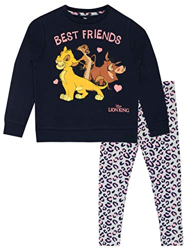 Disney Sudadera y Leggings para niñas The Lion King Rey León Multicolor 6-7 Años