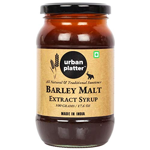 Barley Malt Extract Syrup , 500 Gm (17.64 OZ) [All Natural Premium Quality Traditional Sweetener]