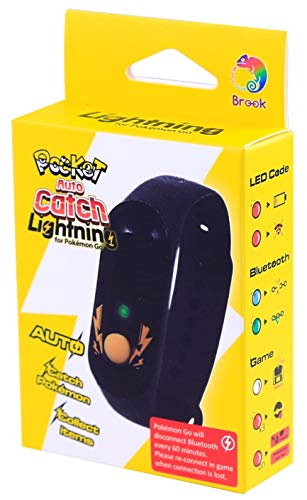 Pocket Auto Catch LIGHTNING 2020 para Pokémon Go (LED individual multicolor-Alternativa para Go Plus, Go-Tcha Evolve y Reviver), impermeable y a prueba de polvo.
