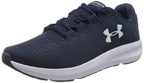 Under Armour UA Charged Pursuit 2, Calzado De Hombre, Zapatillas para Correr, Azul (Academy/White/White (401) 401), 43 EU