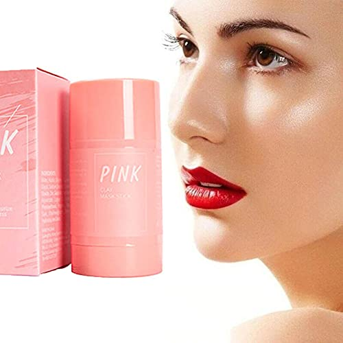 Pink Clay Mask Stick Purifying Clay Stick Mask Anti-Acne Deep cleansing, Oil-control Beauty, Hydrating Blackhead Remover Facial Mask Repair and Shrink Pores