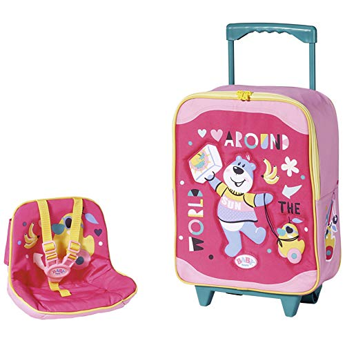 Baby Born Holiday Trolley mit Puppensitz Puppenzubehör, Color Pink/Bunt (Zapf Creation AG 828441)