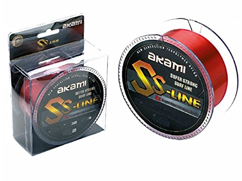 AKAMI SS Line Super Strong Surf Line Sedal 0,20 mm 300 m Red 5,20 kg – 11,45 lbs