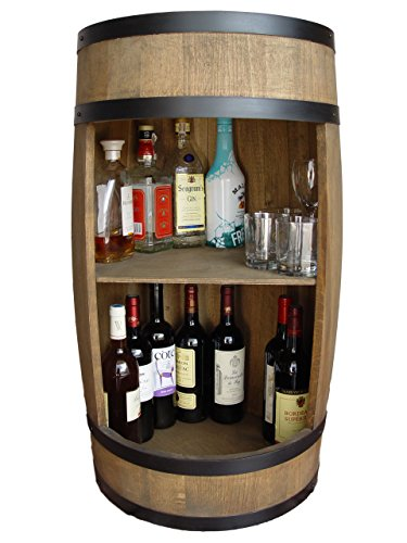 weeco Barril Bar 81cm, Armario de Bar, Barril de Madera, Bar Botellas de Vino Barril Armario