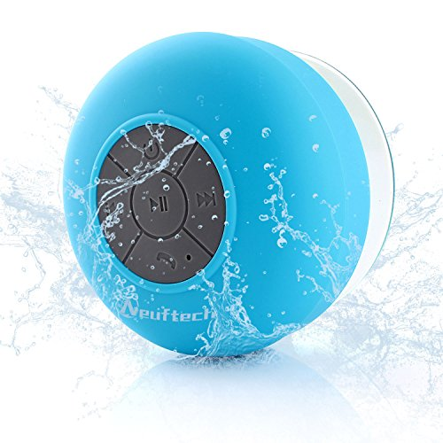 Neuftech Altavoz Bluetooth 4.2 Impermeable Sonido estéreo con Ventosa para Ducha Piscina etc,Azul. Compatible con iPhone 12 12 Mini 11 Pro MAX 11 XR XS X 8S Plus 7S 6S 6 para iPad Pro Air,Xiaomi Mi 10 9 8,Huawei P30 pro Mate 20,Samsung,Android iOS