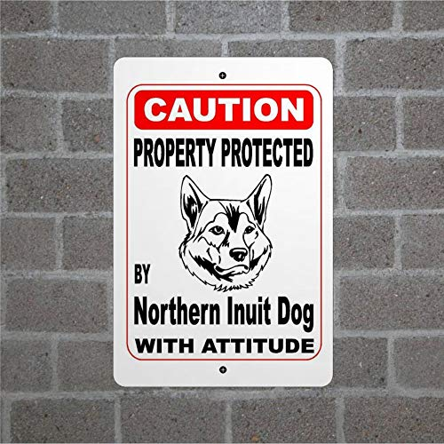 BYRON HOYLE Property Protected by Northern Inuit Guard - Cartel de pared, diseño de perro