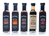 Jack Daniel's - Paquete de prueba BBQ Sauces & BBQ Glaze - 5 botellas en un set (1330g) - Smooth Original, Full Flavor Smokey, Smokey Sweet, Hot Chilli, Tennessee Honey