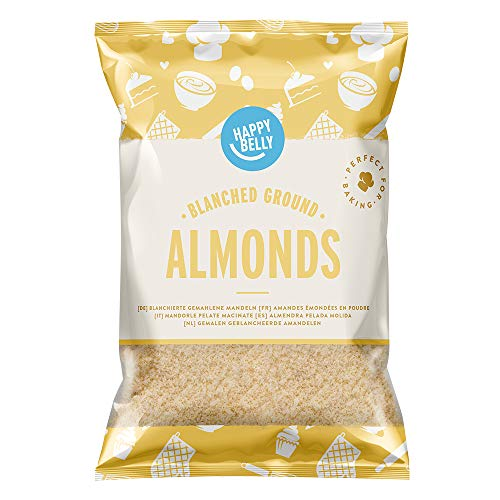 Marca Amazon - Happy Belly Almendras peladas molidas 200gr x 5