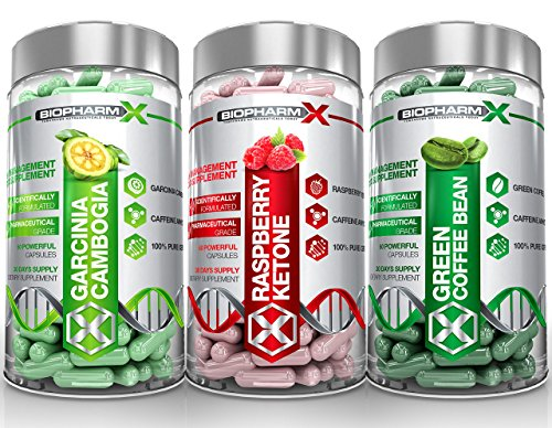 Garcinia Cambogia & Raspberry Ketones & Green Coffee Bean Extract (Multi-Saver Pack | Satisfaction Guarantee)